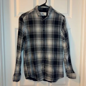 H&M Black and White Flannel